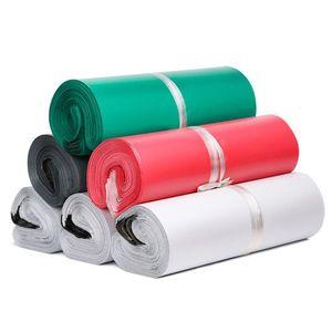 100 teile / los rosa gelb farbige kurierbeutel poly mailer 10 * 13 cm express tasche 25 * 35 cm mail taschen hülle selbstklebende dichtung plastik taschedg