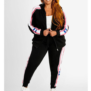 Fashion Two Piece Set Long Sleeve Print Hooded Sport Casual Elegant Zipper Women Sets Autumn Winter Women Sportswear Set