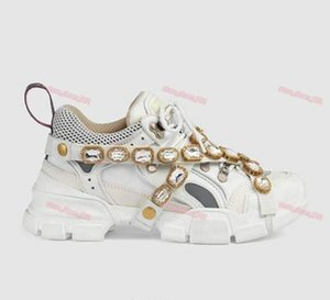 2020 Paris design luxe gem Sports shoes for men women in the spring and autumn Diamond shoes Leather breathable sports leisure shoes UP