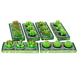 New Fruit Plant Simulation Candle Mini Scented Candle Valentine Day Gift Party Ornament Home Decoration Creative 3D Cactus Candles 3 pcs set
