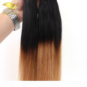 Wholesale Peruvian Malaysian Indian Two Tone Ombre Hair 10- 26 Inch Straight Human Hair Weaving T1B 27 Ombre Human Hair Weaving