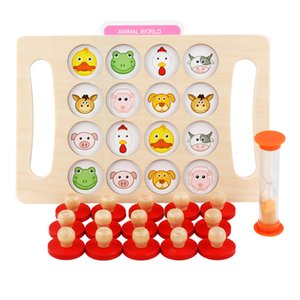 الذاكرة الشطرنج تخمين رقم الحيوان لعبة الإدراك لعبة تدريب الذاكرة للأطفال 3 سنوات التعليم في وقت مبكر التعليم Montessori Toys 200928