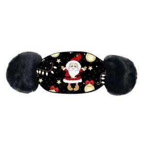 Weihnachtsdruck Kinder Masken Winter Warm Plüsch Gesicht Maske Cartoon Gesichtsmaske Baby Jungen Mädchen Mund-Muffel Ohrenschützer Winddicht Ohrwärmer Verkauf Ewf2541