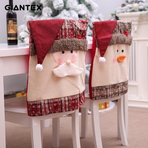 GIANTEX Christmas Decoration New Arrival Santa Chair Covers Holiday Home Deco for Christmas Dinning Room Chair Covers