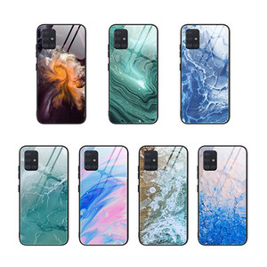 Gradient Marble Tempered Glass Case For Samsung Galaxy S20 Ultra S10 e S9 Plus Note 10 lite 9 A91 A81 A71 A51 A90 A80 A70 A50 A20 A10 S