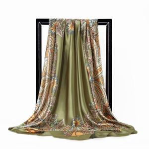90X90cm Fashion Yellow Imitate Silk Satin Fabric for dress shirt cheongsam GH002