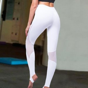 Stitching Mesh Leggings Fashion Casual Fitness High Quality Leggins For Female Women Step On The Foot Elasticity Workout Clothes