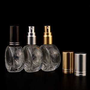 10 ml flache runde transparente sprühflaschen parfüm glas flaschen parfüm probe kosmetik füllflasche leer flasche xd24360