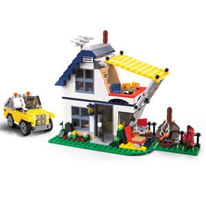 3117 Vacation Getaways Camper Summer Home Architect 3 in 1 Building Block Set 2 Mini Dolls Kids Model Toys For Children 31052 C0119