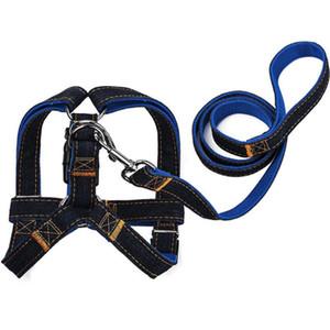 Поводок джинсовой упряжь воротник регулируемая прогулочная веревка для собак собака для собак собака собака для собак обучение домашних животных Puppy воротник