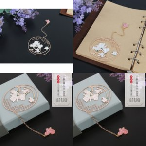 CD4T Pure Filter Leaf Tea O criativo Personalidade Estética Bookmark Bookmarks Adornment Designer Out Hollow Bodhi Folhas Personalidade