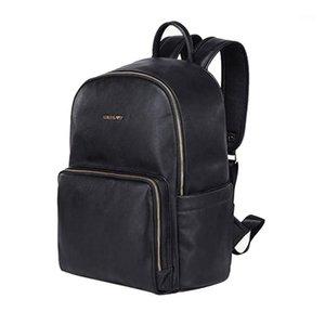Сумки подгузника PU кожаная сумка для беременных подгузников, меняющаяся черная мумия большой емкости путешествия рюкзак для Baby1
