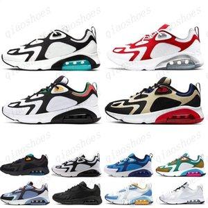 2021 Nouveaux derniers Chaussures de course 200 Teal Bordeaux pour hommes Mystic Green White Gold 200s Mens Sneakers Baskets Destiners des Chaussures Homme