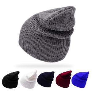Hiver Printemps Nouv Bonnet Femmes Cap Femmes Coton Skullies Beanies Plaine Cornice Chapeaux Femme Bonnet solide