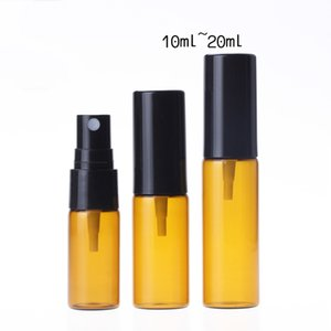 1000pcs lot 5ml 10ml 15ml 20ml Amber Spray Bottle Refillable Empty Perfume Sprayer Bottle