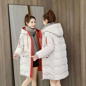 2021 Autumn Winter Women Jacket Thicken Warm Hooded Padded Coat Causal Outwear For Girls Female Solid Colorful Styled Parkas Size S-3XL