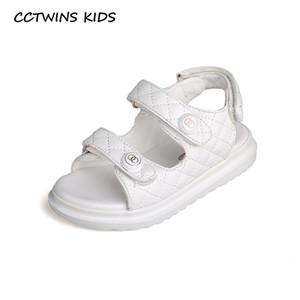 CCTWINS enfants Chaussures 2020 Été Mode enfants Chaussures Blanc bébé marque sandales de plage Filles Souliers doux enfants en bas âge BS527 1007