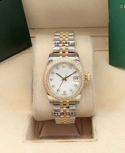 Hot High Quality Fashion Diamond Womens Watch 31mm Fecha Zapphire Impermeable Mecánico Mecánico Relojes Sports Dress Damies Wristwatch Caja