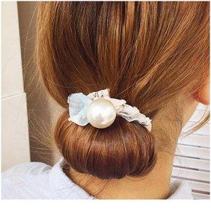 꽃 머리카락 액세서리 매직 롤빵 메이커 소녀 도넛 장치 빠른 지저분한 여성 진주 머리 밴드 프랑스어 DIY 헤어 스타일 헤드 바 QYLVPH