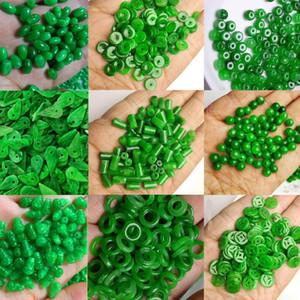 Kadınlar Erkekler için [HXC] 10pc Doğal Yeşil Yeşim Boncuk Diy Bilezik Bileklik Charm Jadeite'nin Mücevher Moda Aksesuar Muska Hediyeleri