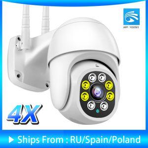 IP Camera Yoosee Outdoor Wifi Camera 1080P AI Auto Tracking Security Camera ONVIF Color Night Vision Audio CCTV Surveillance