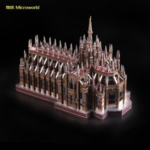 new Microworld 3D Nano Puzzle Churchof Duomo Metal Model DIY laser cutting Jigsaw puzzle building model Toys for adult Gift Y200421