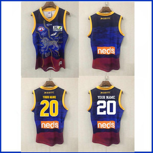 2020 BRISBANE LIONS INDIGENOUS GUERNSEY RUGBY TRAINING JERSEY size S-L--XL-3XL
