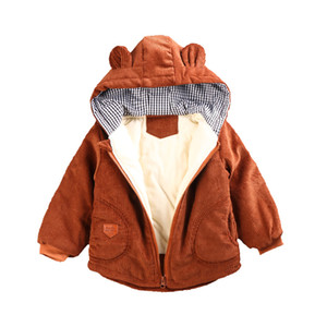Boys Girls winter hooded jacket New Warm Jackets Kids Sports Hooded Outerwear 3 Colors Coat Clothes 201118
