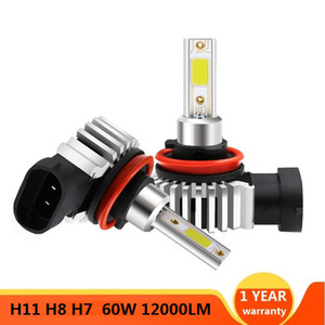 Car LED Headlight Bulbs H11 9006 HB4 9005 HB3 H4 H7 H11 H1 Mini Headlight Kit for High Beam Bulb Fog Light