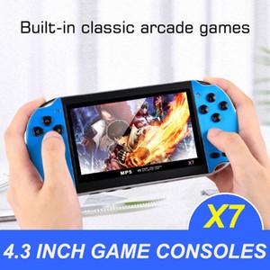 휴대용 게임 플레이어 8GB x7 플라스틱 엔터테인먼트 4.3 인치 듀얼 로커 핸드 헬드 USB 비디오 콘솔 충전식 TV 출력 복식 게임