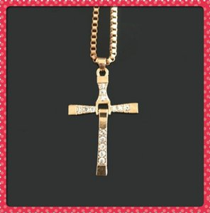 necklace Beauty2021 with section Alloy Diamond cross accessories clavicle domineering male and female couple pendant jewelry