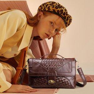 Schuster Legende Frauen Leder Handtaschen Stricken Satchel Vintage Echtes Leder Tote Klassische Aktentasche Designer Handtasche Marke