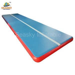 Free shipping 0.9mm PVC 6x1x0.1m inflatable air gym mat tumble inflatable air track mattress for sale