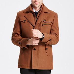 Winter Warm Mens Business Woolen Trench Jacket Overcoat Pea Coat trend
