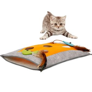 Sleeping Cat Bag Tunnel zero Kitten Ocultar Blanket Squeaky brinquedos com Squeaky papel brinquedo Pássaro Kitty Casa Gatos Bed