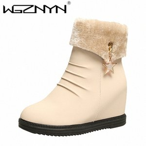 WGZNYN 2020 Women Snow Boots For Moman Shoes Heels Ankle Botas Mujer Keep Warm Platform Boots Female Winter Footwear CwhD#