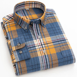 Plaid Solid Color Striped Shirt Mens Fashion Clothing Trends Longsleeve Shirt for Men Casual Button Up Retro Clothes