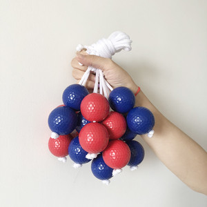 5 pieces   bag of golf children's Golf color ball training 42mm scale Golf Blue Hole