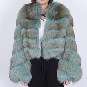 Winter real fox fur coat ladies parka coat natural real fox fur coat natural fox fur vest vest 201112