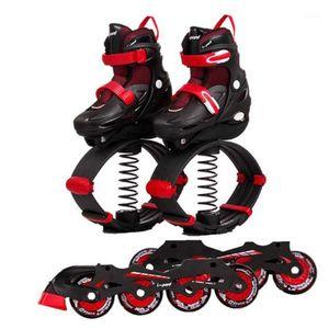Heiß ! Kängurusprungschuhe 2 in 1 Rollschuhen + Bounce-Schuhe für Kinder Teenager Inline-Skates Jump Sports Skate1