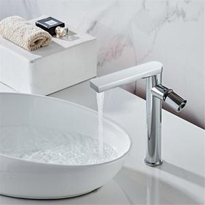 Basin Faucet Hot and Cold Bathroom Mixer Tap Black Brass Bathroom Faucets QX2E