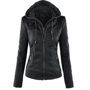 Winter Gothic Leather Jacket Women Casual Basic Coats Plus Size 7XL Basic Jackets Waterproof Windproof Coats Female Y201012
