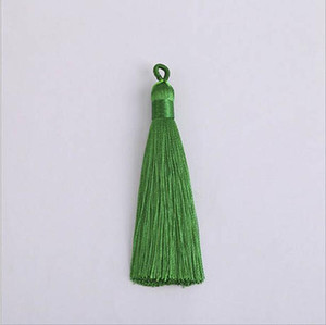 10pcs 8cm Colorful Polyester Silk Tassel With Pull Ring For Hanging Earring Charms Making Diy Jewlery Pendants Accessories H jllIhw