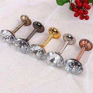Ganchos Rails 10 pares diamante forma de cristal parede gancho de suspensão para roupas chapéu chapéu chave cabide decoração