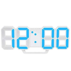 Multifunctional LED Clock Large LED Digital Wall Clock 12H   24H Time Display with Alarm and Snooze Function Luminance Adjustabl