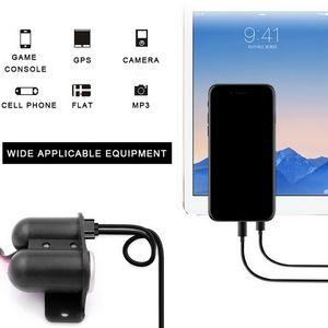 Updated 12V-24V Dual USB Charger + Cigarette Lighter +Voltmeter Car USB Socket with Independent On Off 2.1+2.1A Car Fast Charger