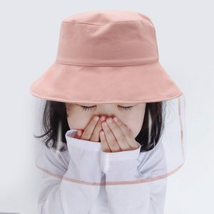 Spring Summer 6 Colors Anti Dust Anti Spatter Mist Sun Proof Hat Protective Shield Mask For Children Kids 5-12 Years Old FWA2149