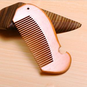 Narin ahşap tarak sakal tarağı özelleştirilmiş taraklar lazer özel LOGO LXL599 tımar kadınlar erkekler için ahşap saç tarağı oyulmuş