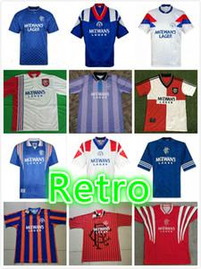 الرجعية glasgow rangers 1995-96 بعيدا كرة القدم الفانيلة gascoigne mcCoist laudrup ferguson football kit خمر قميص كلاسيكي