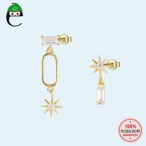 Star Earrings Genuine 925 Sterling Silver Stud Earrings Supper Cool For Women Girls Party Jewelry 925 Wholesale DS1828